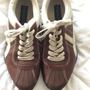 Reaction Men's Casual Brown & Beige Shoes Size 9.5